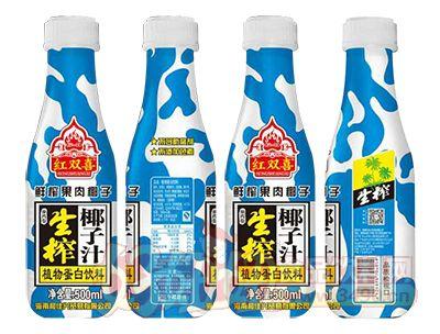 红双喜鲜榨果肉椰子汁500ml