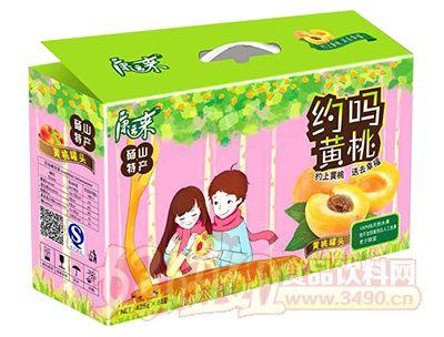 康运来约吗黄桃罐头425g×8罐礼盒