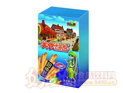 乐比卡通美食大冒险蔬菜味超棒饼干50克蓝