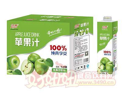 谷源苹果汁饮料1lx8瓶