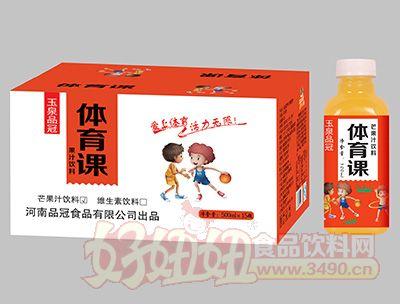 500mlx15瓶玉泉品冠体育课芒果汁
