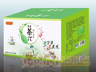 果香茶π柚子绿茶500mlx15瓶