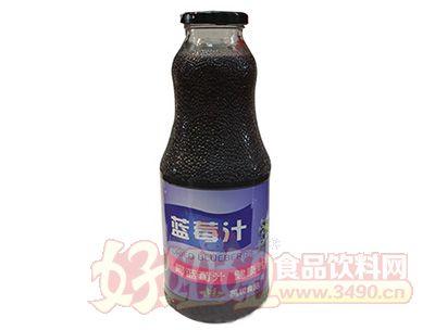 首一蓝莓汁玻璃瓶