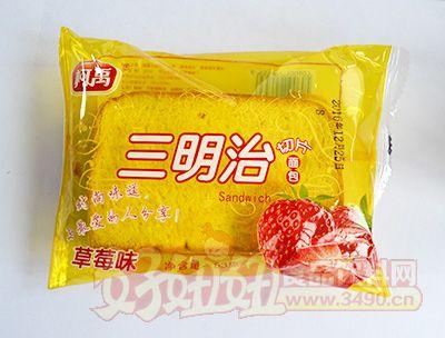 柯禹三明治切片面包草莓味53克