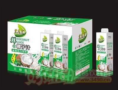 1Lx8瓶伊得乐鲜榨椰子汁
