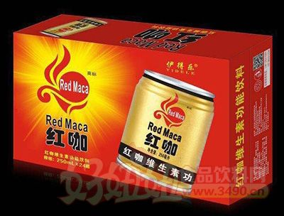 250mlx24罐红咖维生素饮料