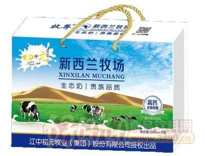 初元新西兰牧场高钙低脂牛奶250mlx12盒