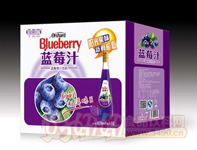 豫善堂蓝莓汁饮料828mLx8瓶