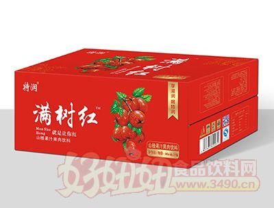 特润满树红山楂果汁果肉饮料380mlx15瓶