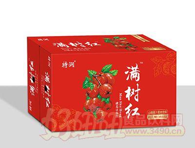 特润满树红山楂果汁果肉饮料380mlx15瓶箱装