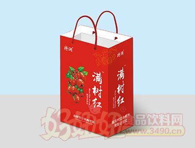 特润满树红山楂果汁果肉饮料礼盒