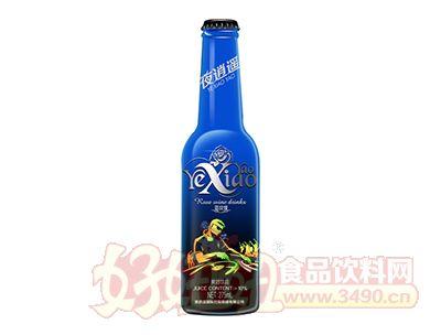 夜逍遥蓝玫瑰果酒饮品275ml