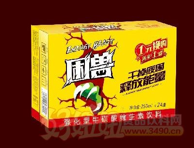 困兽强化型牛磺酸维生素饮料箱装250mlx24