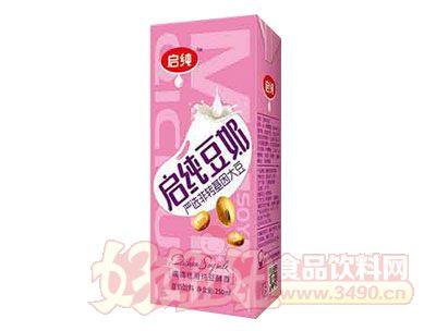启纯豆奶盒250ml