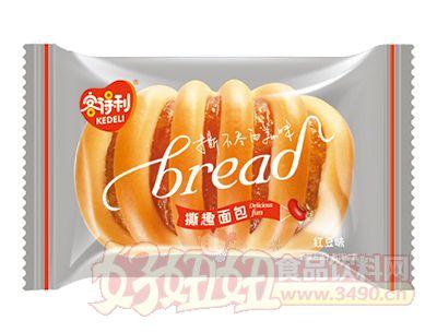 客得利红豆味撕趣面包称重