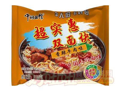 中旺面馆香辣牛肉味双面块260g