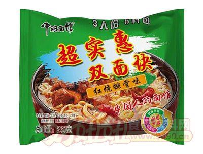 中旺面馆红烧排骨味双面块260g