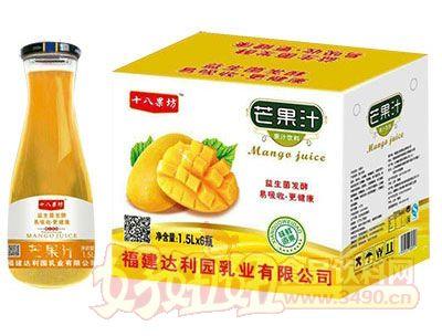 十八果坊芒果汁饮料1.5L×6瓶(大口瓶)