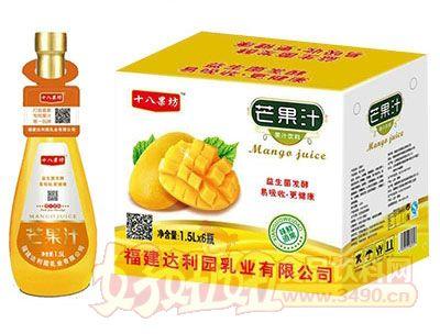 十八果坊芒果汁饮料1.5L×6瓶