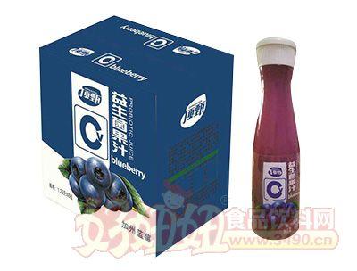 晨铭益生菌果汁加州蓝莓1.25L×6瓶