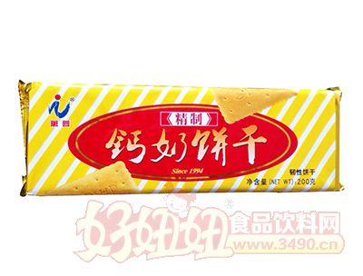万蓉精制钙奶饼干200g