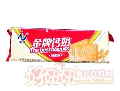 万蓉金牌钙奶饼干冲泡型韧性饼干200g