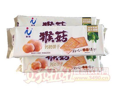 万蓉猴菇钙奶饼干冲泡型韧性饼干200g