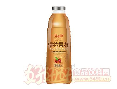 喜牵喜提拉果苏红枣青稞复合果汁饮料1l