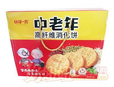 谷部一族中老年高纤维消化饼