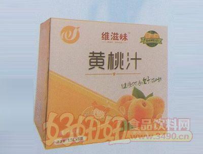 维滋味黄桃果汁饮料1.5lx6瓶