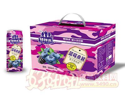 特种兵蓝莓桑葚果汁茶饮料960ml×6