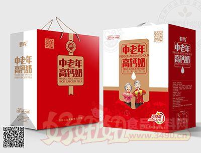 甄秀中老年�o蔗糖高�}奶250mlx12盒