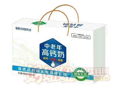福建达利园中老年高钙奶250mlx12盒