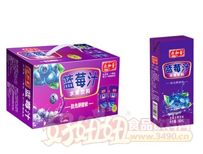 乐加壹蓝莓汁250ml