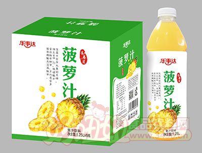 乐事达百菠萝果汁1.25Lx6瓶