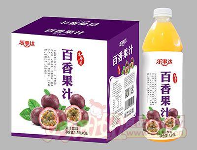 乐事达百香果果汁1.25Lx6瓶