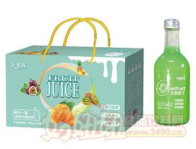 乐事达高端玻璃瓶猕猴桃汁330mlx10瓶