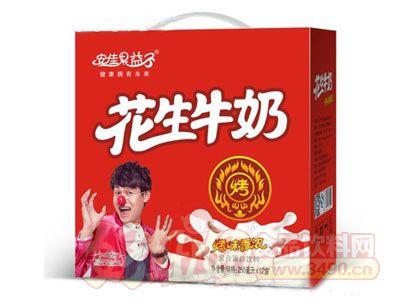 安佳果益子花生牛奶复合蛋白饮料250mlx12盒(礼盒)