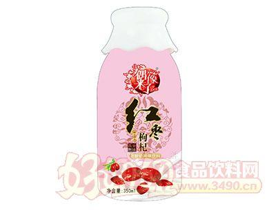 偶像来了红枣枸杞老酸奶风味饮料350ml