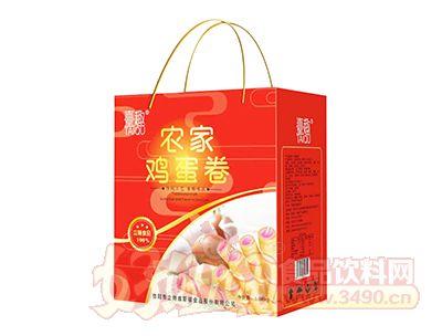 �_趣农家鸡蛋卷1.08kg礼盒