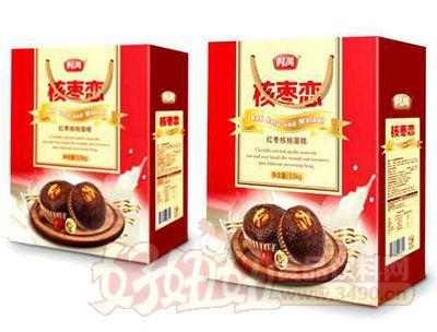 柯禹核枣恋红枣核桃蛋糕1.5kg