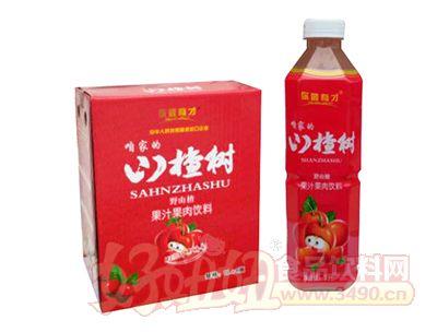 你最有才山楂树野山楂果汁果肉饮料1L×6瓶