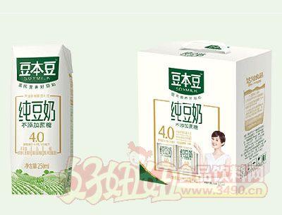 豆本豆纯豆奶250mlx12盒