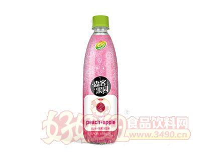 森客果园桃汁+苹果汁饮料480ml