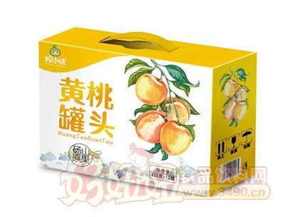 榨小妹黄桃罐头425gx12罐