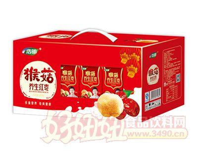 浩明猴菇养生红枣风味饮品开窗礼盒