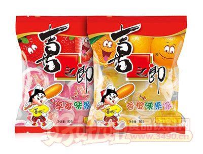 喜之郎香橙味+草莓味果��90g