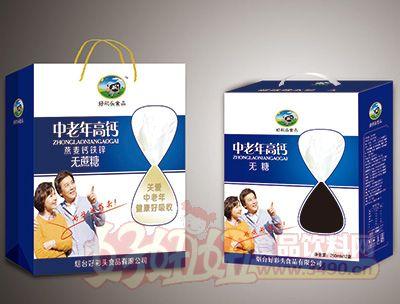 烟台好彩头中老年燕麦钙铁锌蛋白饮品250MLx12盒蓝
