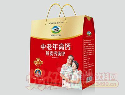 烟台好彩头中老年燕麦钙铁锌饮品屋顶盒250MLx12盒