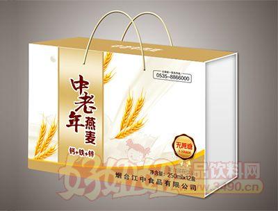 烟台江中中老年钙铁锌燕麦无蔗糖饮品250mlx12盒